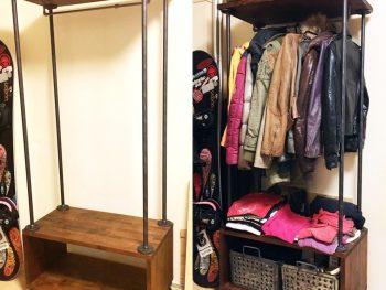 【家具DIY】本物のガス管でDIY!男前ガス管ハンガーラック