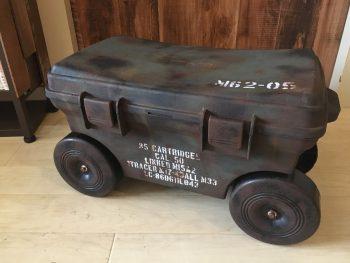 【リメイク塗装編】市販のフィールドカートを戦車×サビ塗装で米軍アンモボックス風にリメイク♪