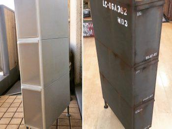 【リメイク塗装編】戦車サビ塗装でプラスチックの隙間家具を弾薬庫風にリメイク