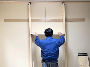 【賃貸DIY】ウォリストで作る棚付きデスク②